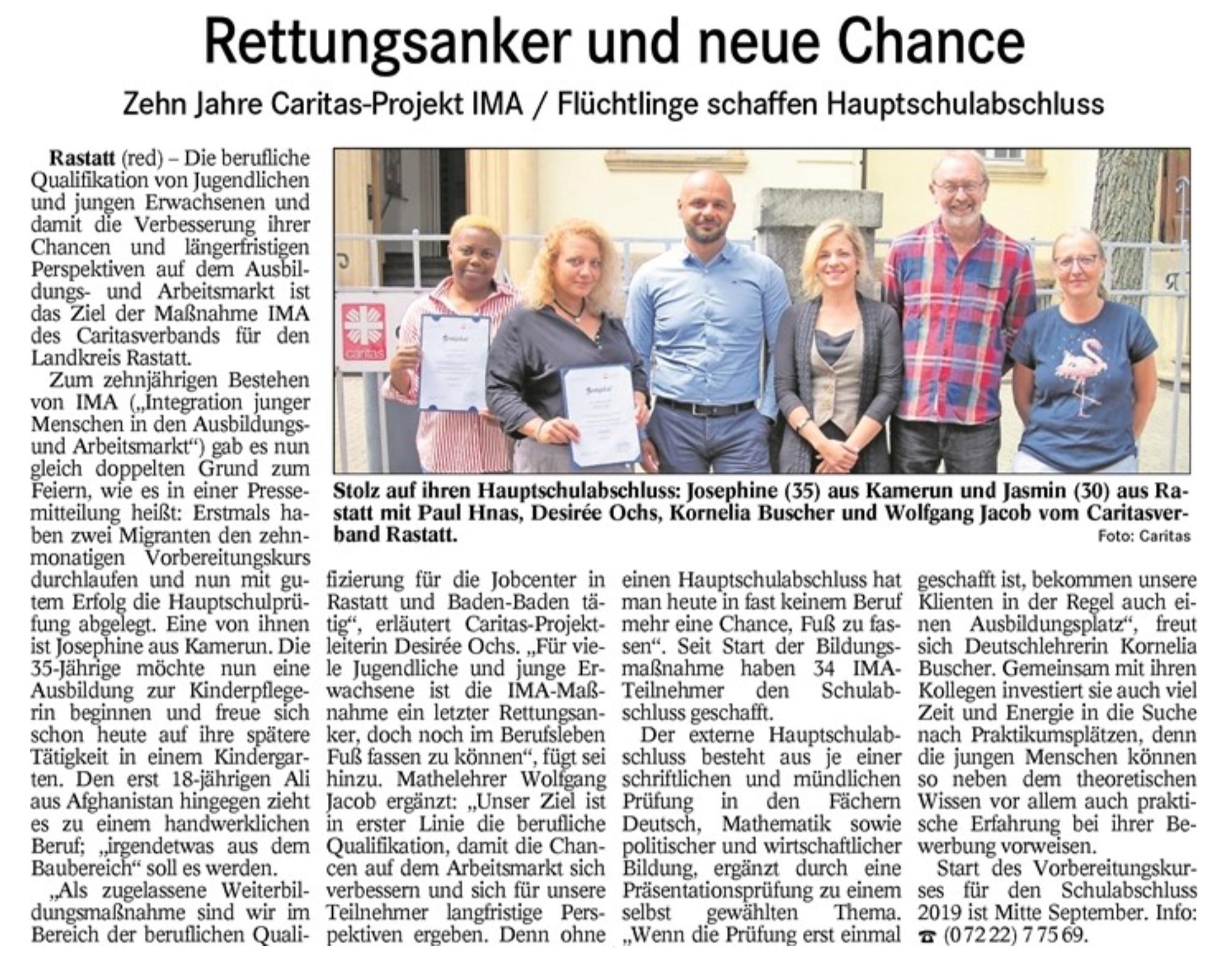 Rettungsanker und neue Chance - Badisches Tagblatt